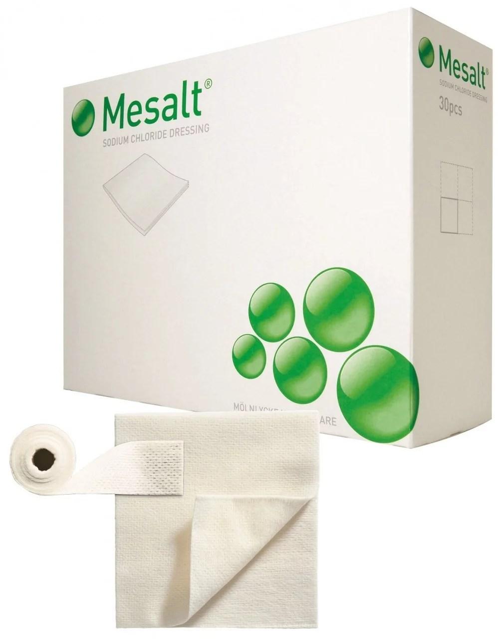 Mesalt Cleansing Sodium Chloride Dressing. 4 x 4 Inch - Box of 30 - Walmart.com