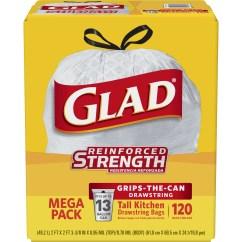 Glad Kitchen Bags Non Slip Work Shoes For Tall Drawstring Trash 13 Gallon 120 Ct Walmart Com
