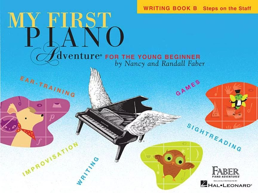 My First Piano Adventure, Writing Book B, Steps on the Staff: For the Young Beginner (Paperback)