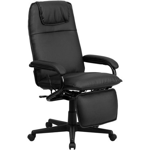 walmart leather office chair Flash Furniture High Back Leather Executive Reclining