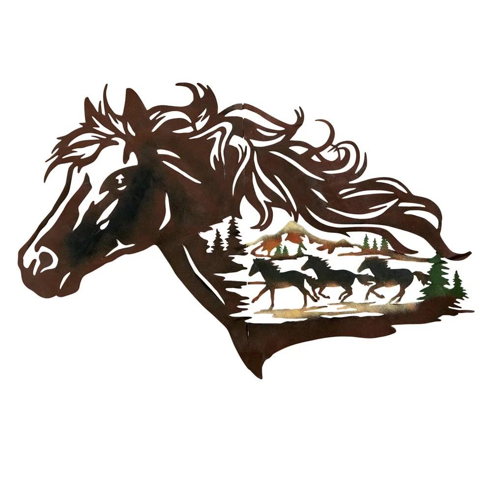 metal western horse silhouette