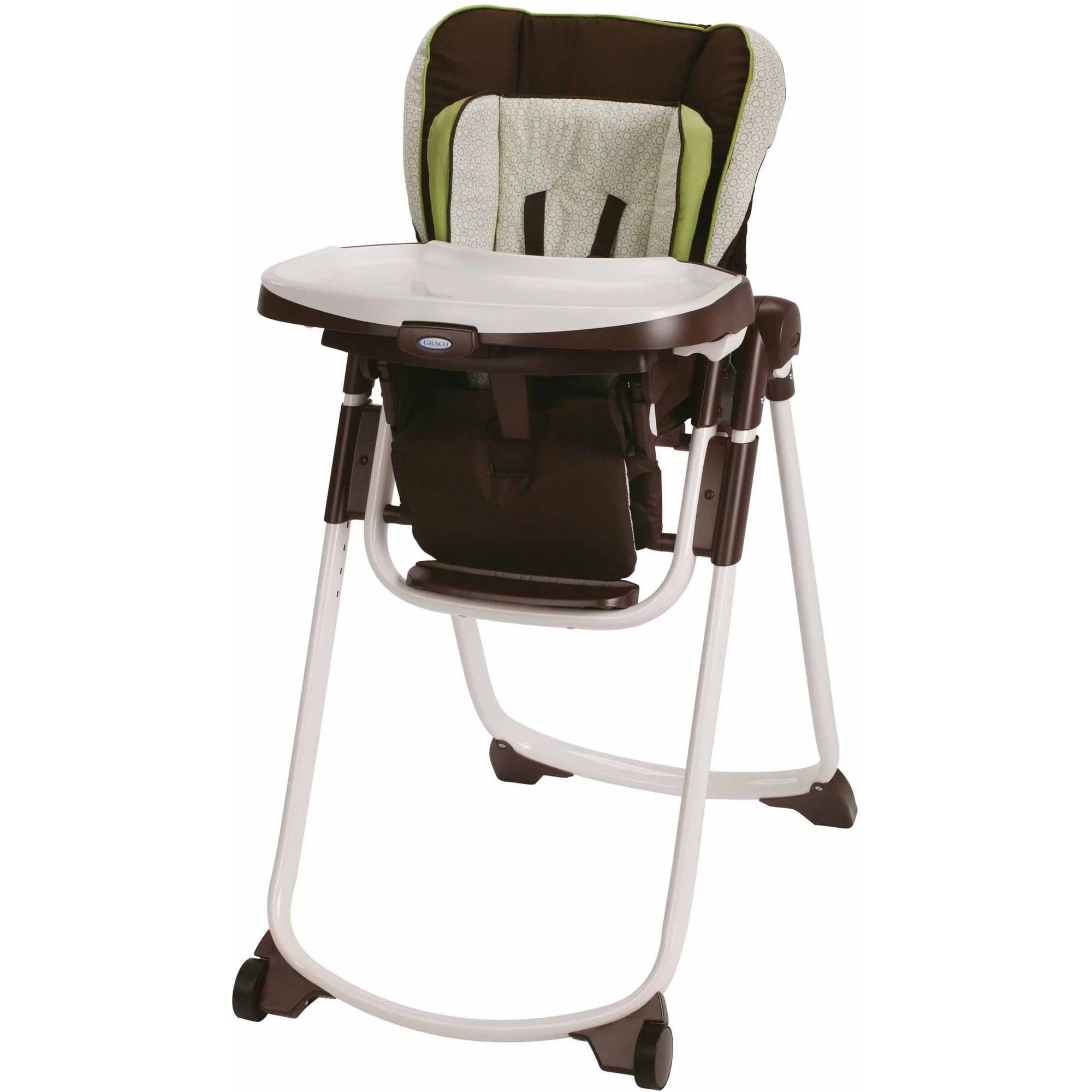 Graco Slim Spaces Space Saver High Chair Go Green