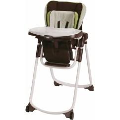 Graco Slim Spaces High Chair Folding Lounge Beach Space Saver Chair, Go Green - Walmart.com