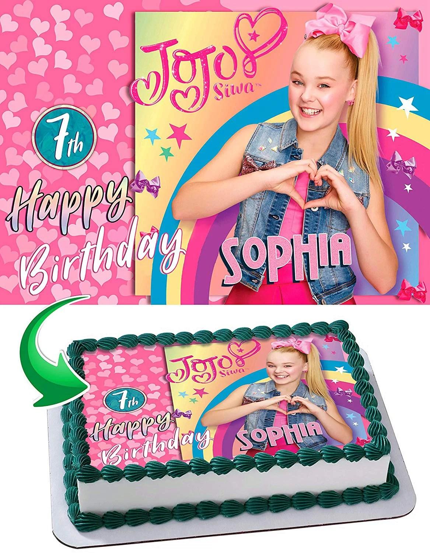 Jojo Siwa Happy Birthday : happy, birthday, Edible, Image, Topper, Personalized, Birthday, Party, Sheet, (8