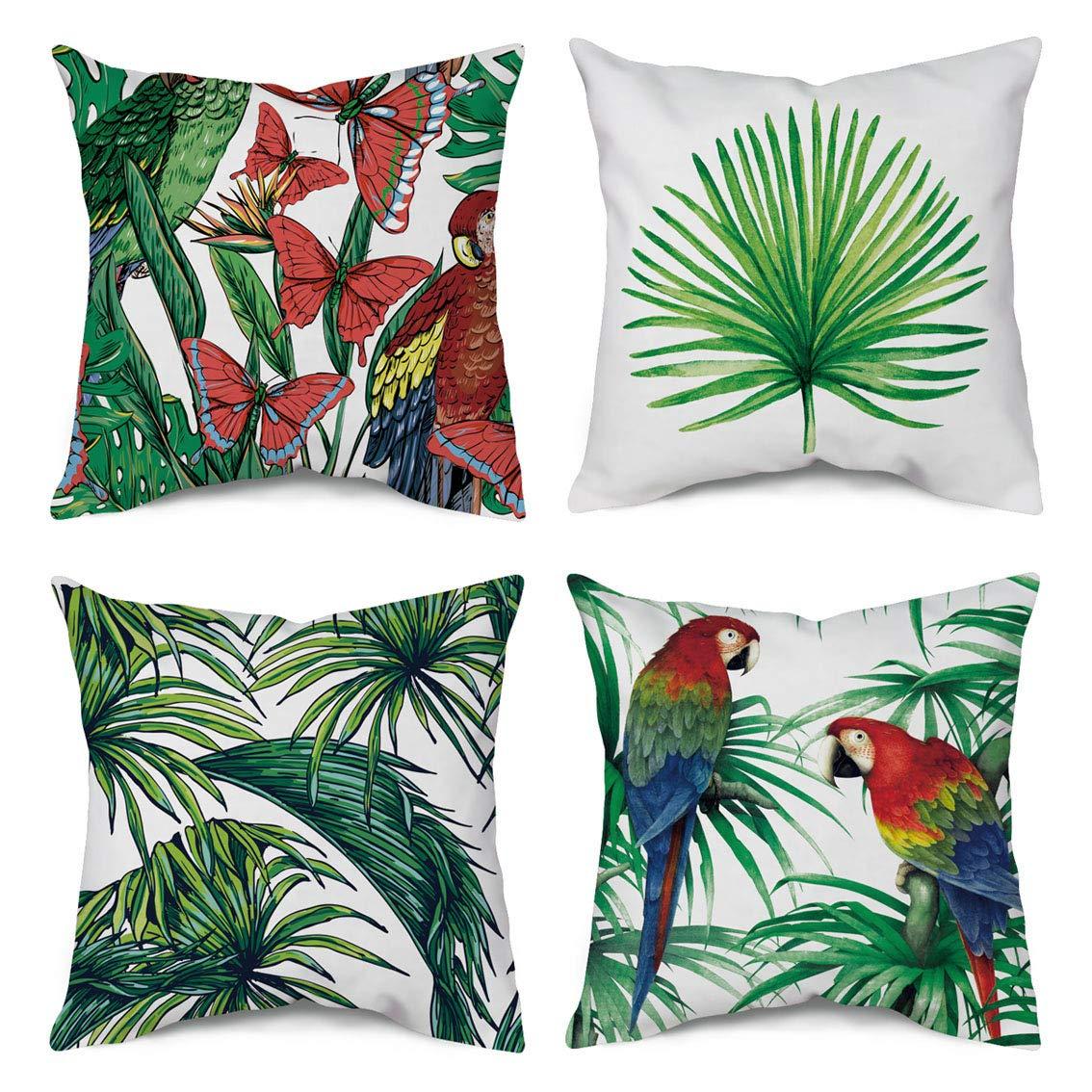 wendana plam bird butterfly decorative throw pillow cover 18x18 inch home decor garden outdoor pillow cushion cases for couch sofa bed patio set