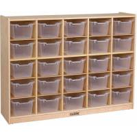 ECR4Kids 25 Tray Birch Storage Cabinet w/ 25 Bins ...