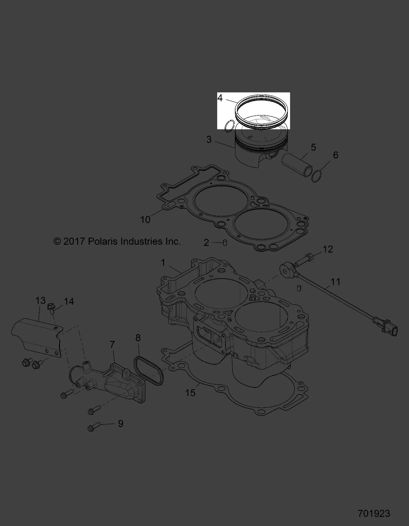 hight resolution of polaris 2016 2018 rzr xp4 turbo md rzr xp4 turbo intl k piston rings 2206217 new oem walmart com