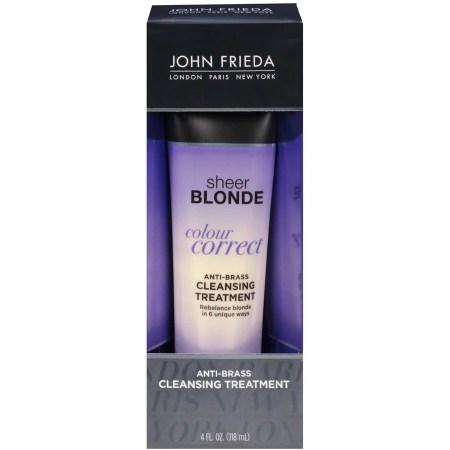 john frieda sheer blonde colour correct anti brassy cleansing treatment 4 fl oz walmart