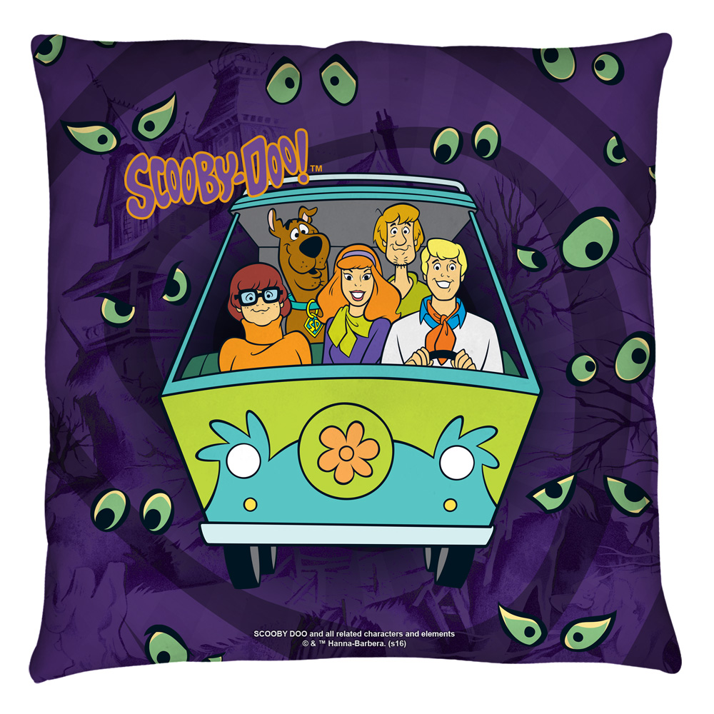 Scooby Doo Night Ride Throw Pillow White 16X16  Walmartcom
