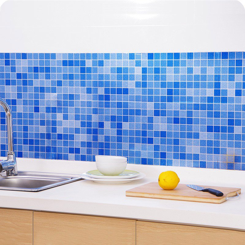 removable mosaic wallpaper for bathroom wall decor waterproof heat resistant self adhesive wallpaper for kitchen backsplash peel and stick tile wall