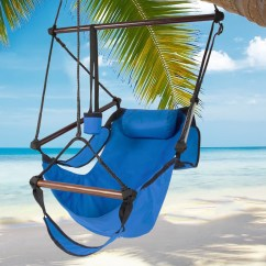 Hanging Chair Wood Office Master Best Choice Products Hammock Air Deluxe Outdoor Solid 250lb Blue Walmart Com