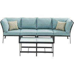 6 Piece Modular Sectional Sofa Outdoor Sets India Mōd Furniture Brooklyn Set Blue Walmart Com