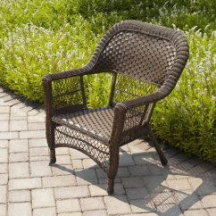 Comfortable Wicker Chairs Posture Monitoring Chair Mainstays Full Stack Honey Brown Walmart Com