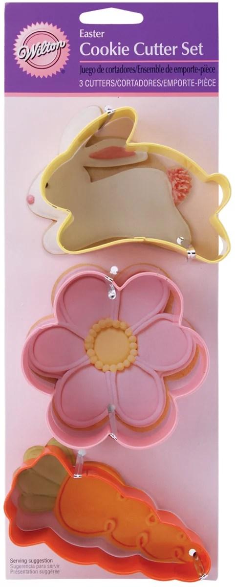 Wilton Cookie Cutter Set Carrot Bunny  Flower 3 ct 23081328  Walmartcom