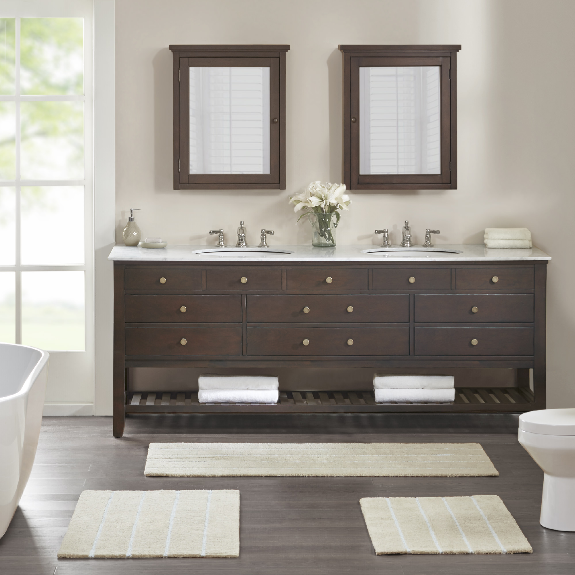 Home Essence Darien Cotton Tufted And Looped Stripe Bath