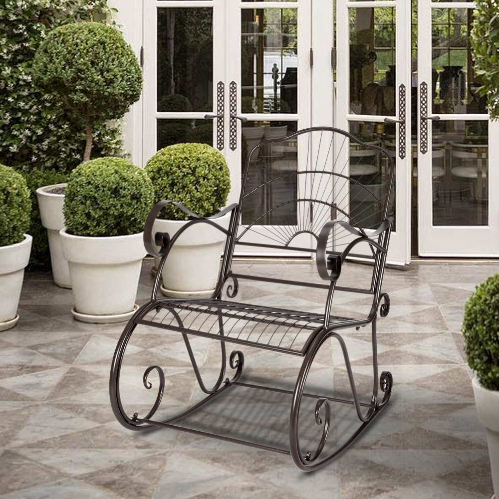 outdoor rocking chair metal patio rocking chair outdoor garden iron art rocking chairs for porch patio rocker chairs heavy duty outdoor rocking