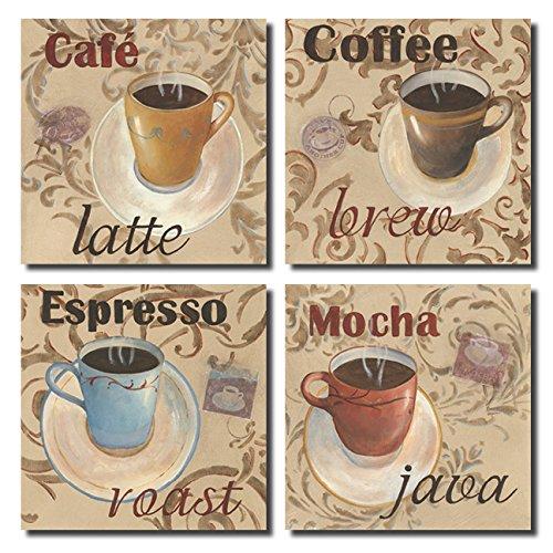 Classic Latte Espresso Mocha Coffee Decorative Signs; Kitchen Decor