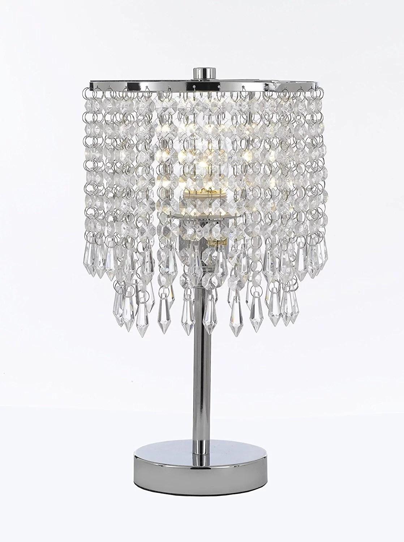 chrome round crystal bedroom desk lamp table lamp bedside lamp