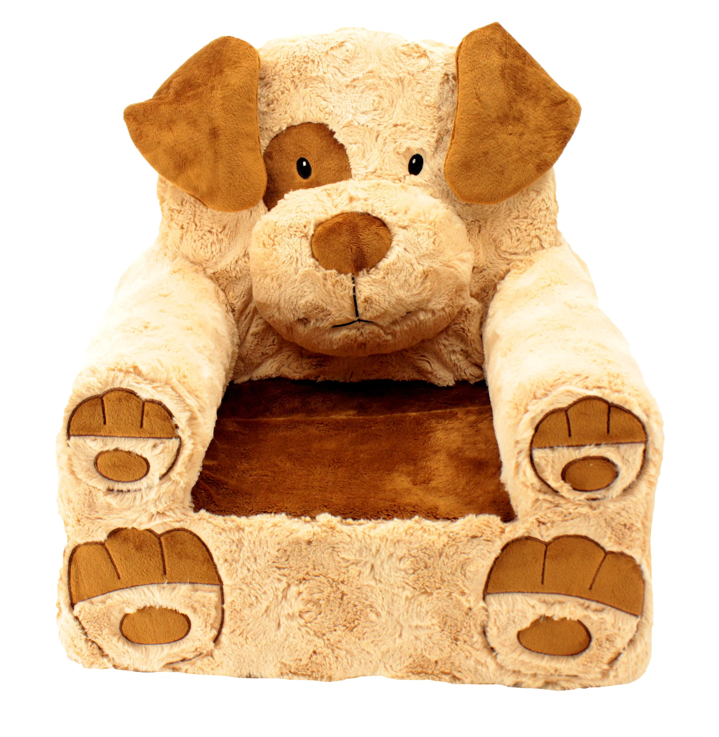 childrens chairs soft swivel chair natuzzi sweet seats adorable tan brown dog children s standard size machine washable removable cover 13 l x 18 w 19 h walmart com