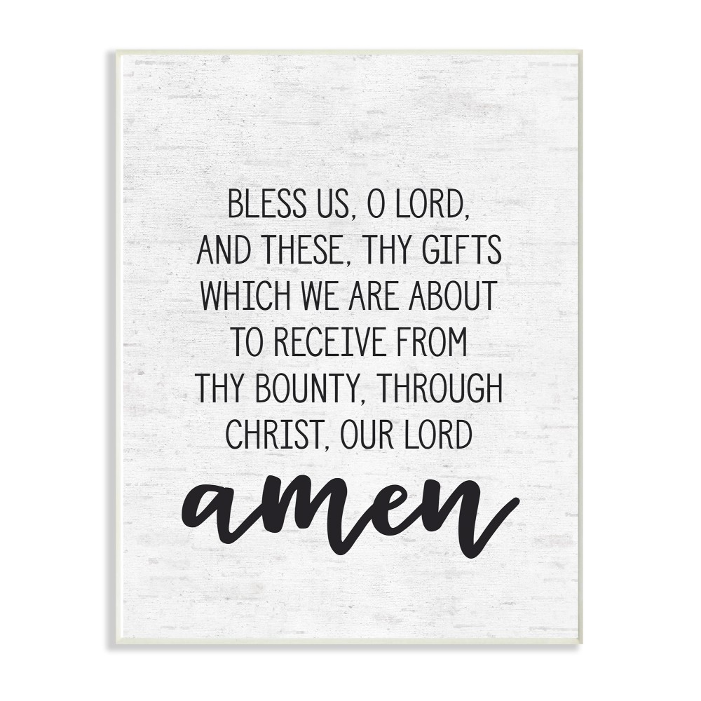 The Stupell Home Decor Collection Bless Us O Lord Before