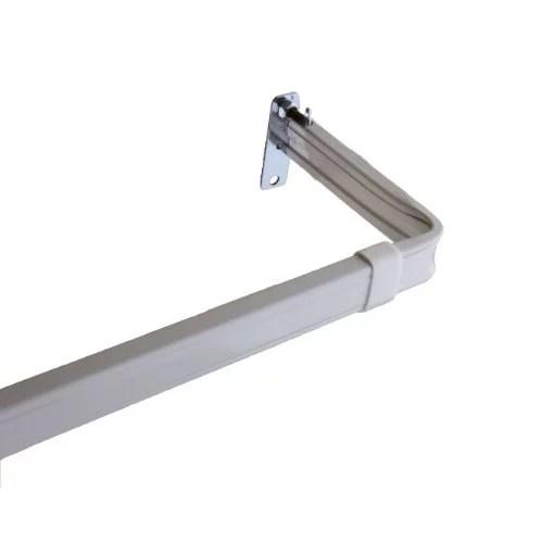 lockseam 3 inch clearance curtain rod 28 48 inch