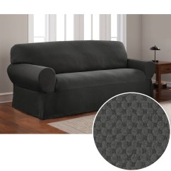 Sofa Chair Cover Reclining Office With Ottoman Slipcovers Walmart Com Product Image Mainstays Stretch Pixel 1 Piece Furniture Slipcover