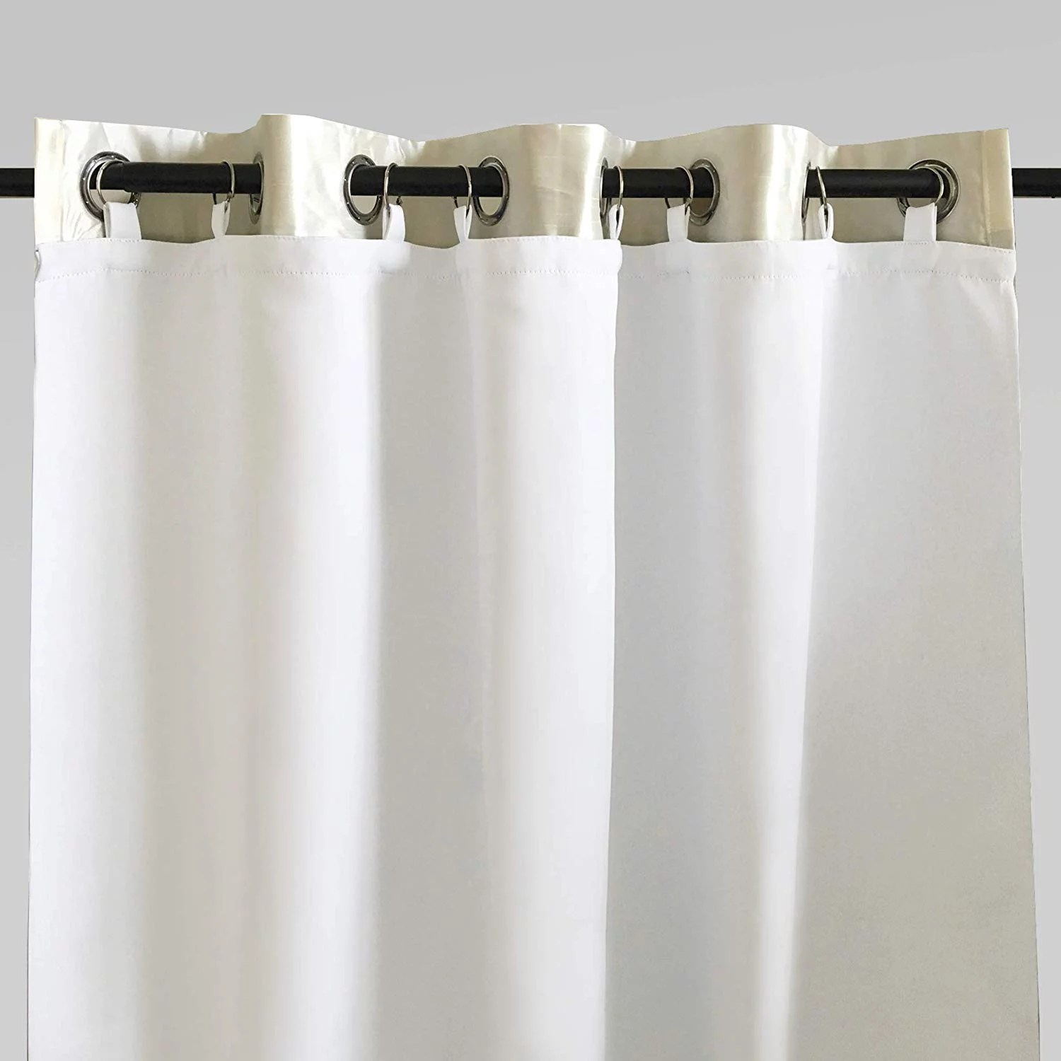 driftaway thermal insulated 100 darkening blackout curtain liner 63 inch grommet curtains set of 2 each liner size 50 x58 rings included
