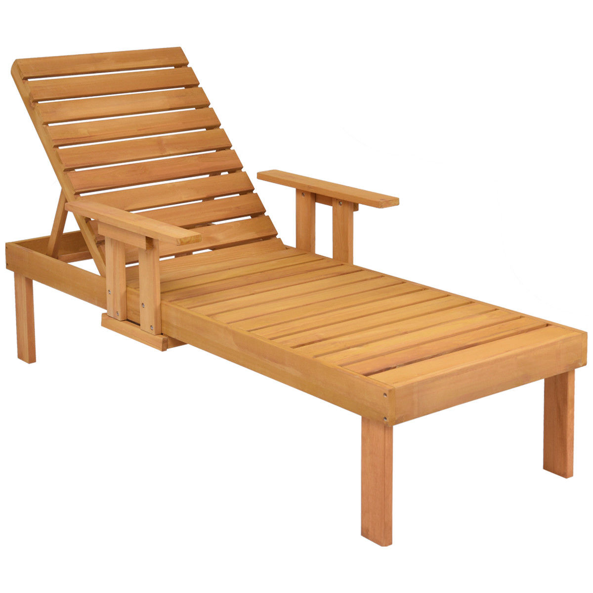 wood beach chairs plastic kids table and gymax patio chaise sun lounger outdoor garden side tray deck chair