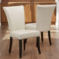 Stanford Ivory Leather Dining Chairs - 2 Pack - Walmart.com