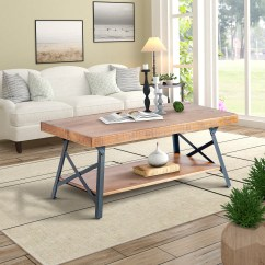 Retro Living Room Coffee Table French Provincial Sets Harper Bright Designs Solid Wood With Metal Legs For Walmart Com