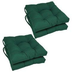 Green Chair Cushions Papasan Outdoor Pads Walmart Com Twill Dining Set Of 4