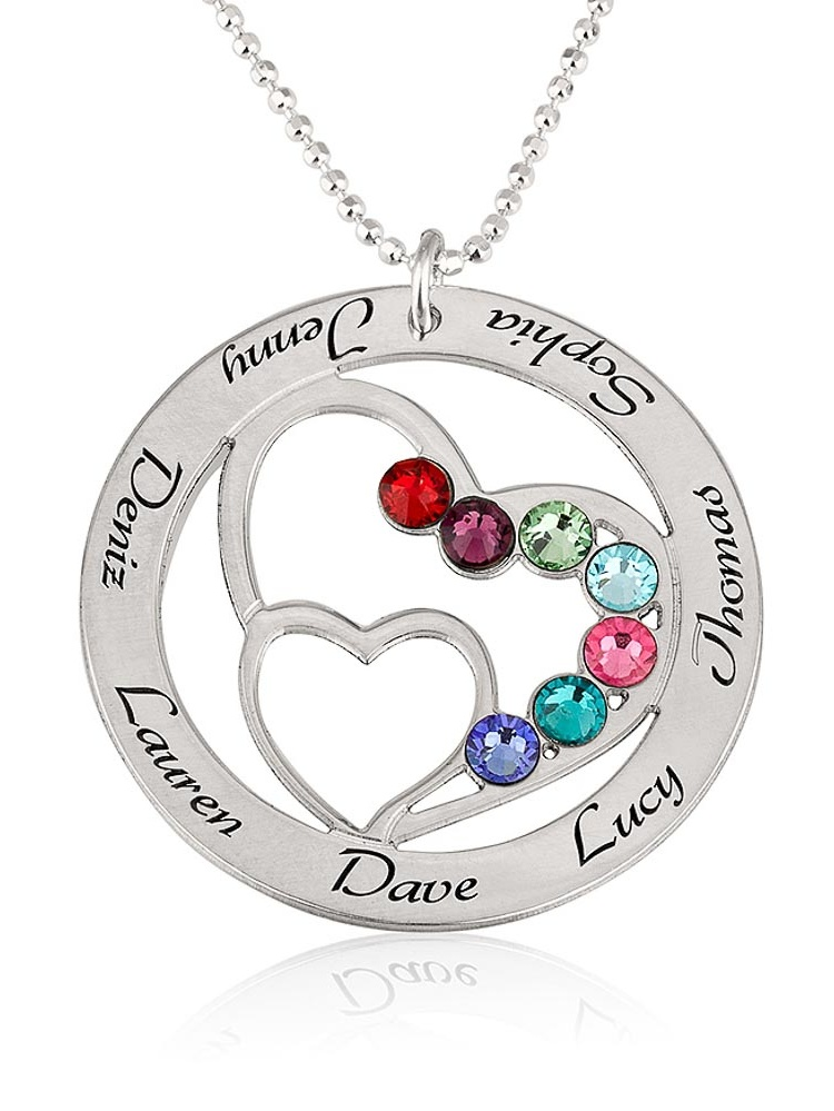personalized heart necklace with
