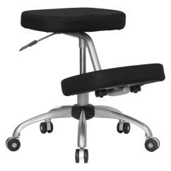 Ergonomic Chair Kneeling Posture Wedding Cover Hire Bromley Office Black Walmart Com