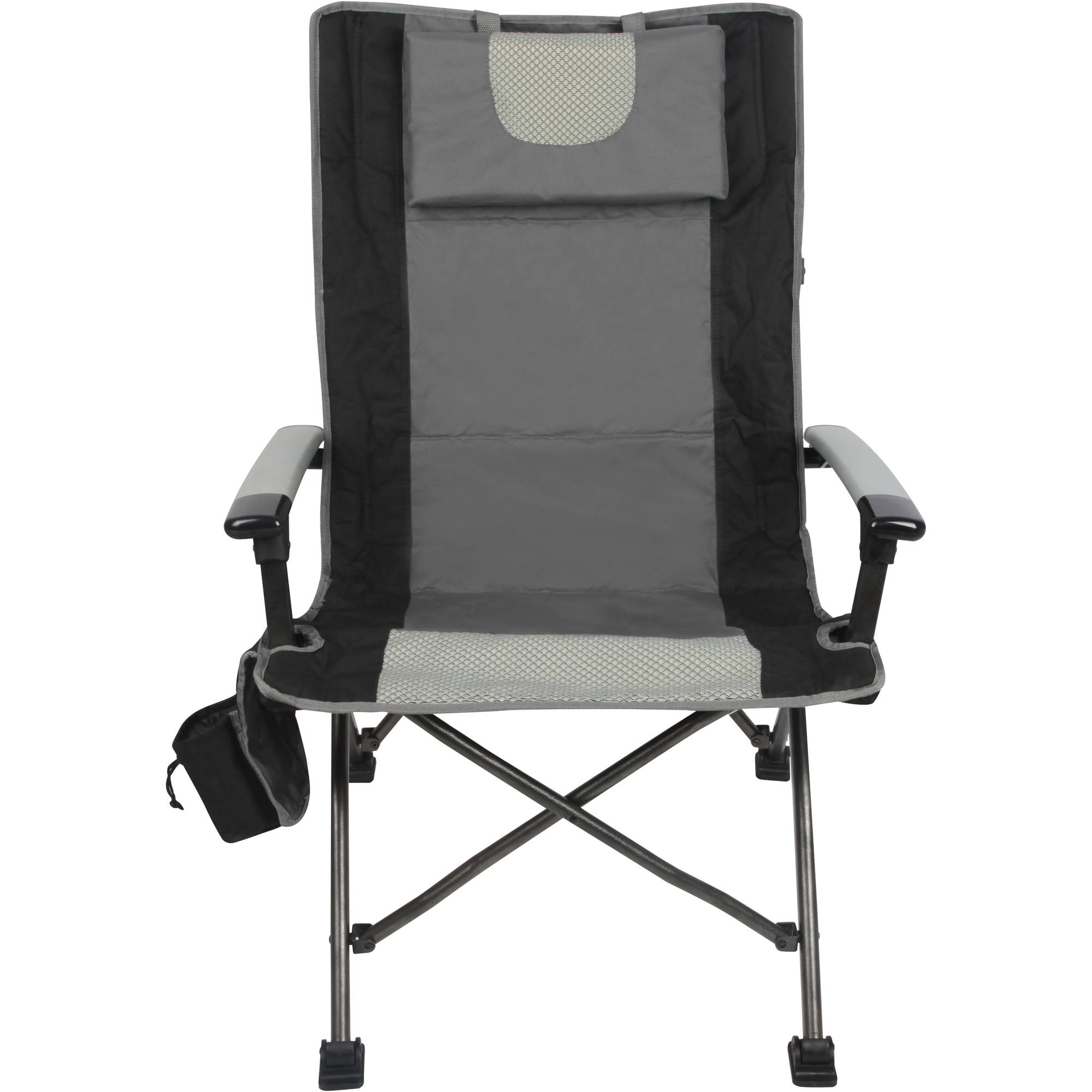 Folding Camping High Chair Outdoor High Back Folding Chair With Headrest Set Of 2