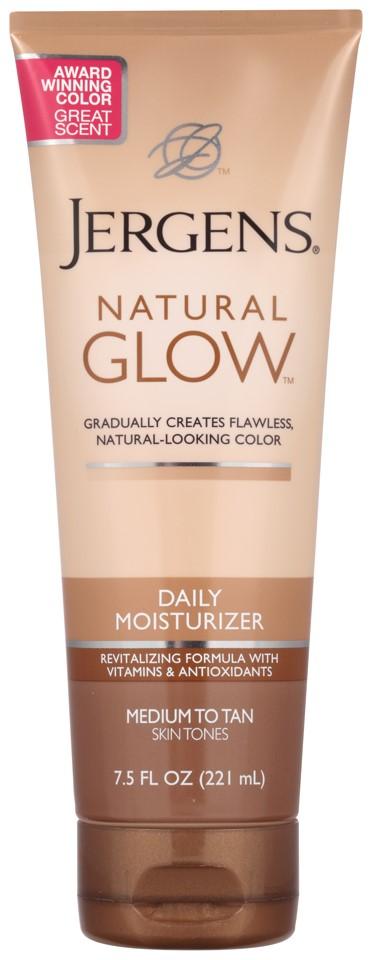 Jergens Natural Glow Daily Moisturizer, Medium to Tan Skin Tones, 7.5 Oz