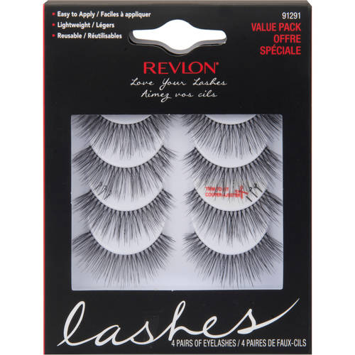 Revlon Love Your Lashes Eyelashes Black 4 pairs