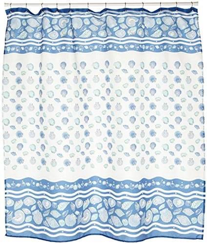 benandjonah collection fabric shower curtain 70 x 72 seashell light blue