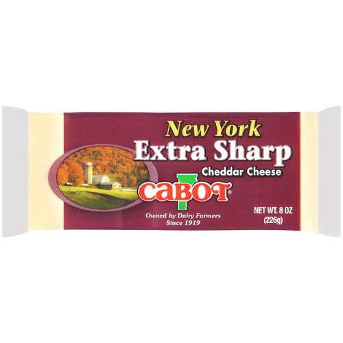 Cabot Vermont New York Extra Sharp Cheddar Cheese 8 oz