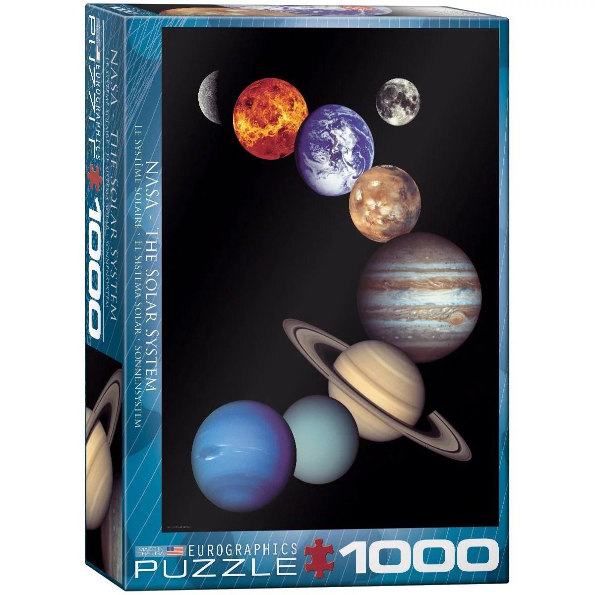 Nasa Solar System Piece Puzzle Piece Puzzle By