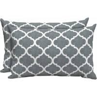 Mainstays Outdoor Patio Lumbar Toss Pillow, Set of 2 ...