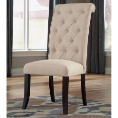 Tufted Dining Room Chairs High Heel Shoe Chair Plans Signature Design By Ashley Tripton Parsons Set Of 2 Walmart Com