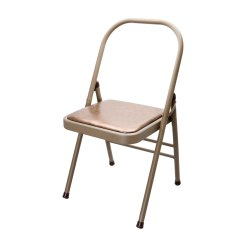 Folding Metal Yoga Chair Red Living Room Chairs Iron Household Office Exercise Relaxing Fitness Backless Departments