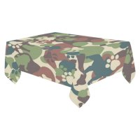 MYPOP Puppy Dog Paw Print Camo Tablecloth Set 60x104 ...