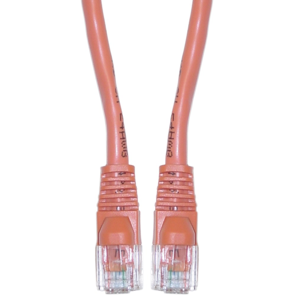 medium resolution of cablewholesale 10x8 33325 cat6 orange ethernet crossover cable snagless molded boot 25 foot walmart com