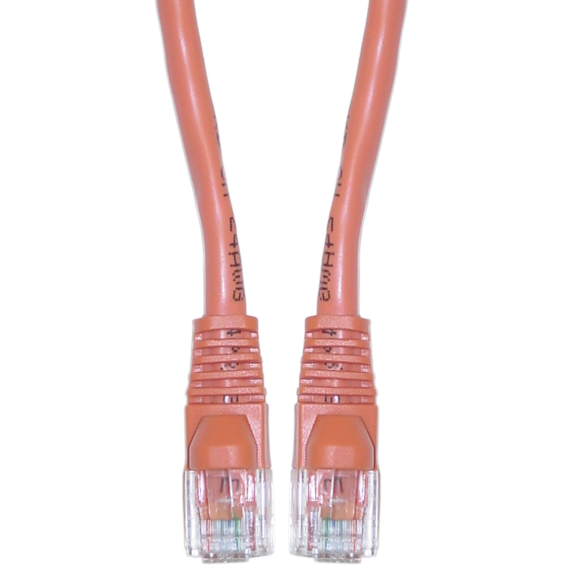 hight resolution of cablewholesale 10x8 33325 cat6 orange ethernet crossover cable snagless molded boot 25 foot walmart com