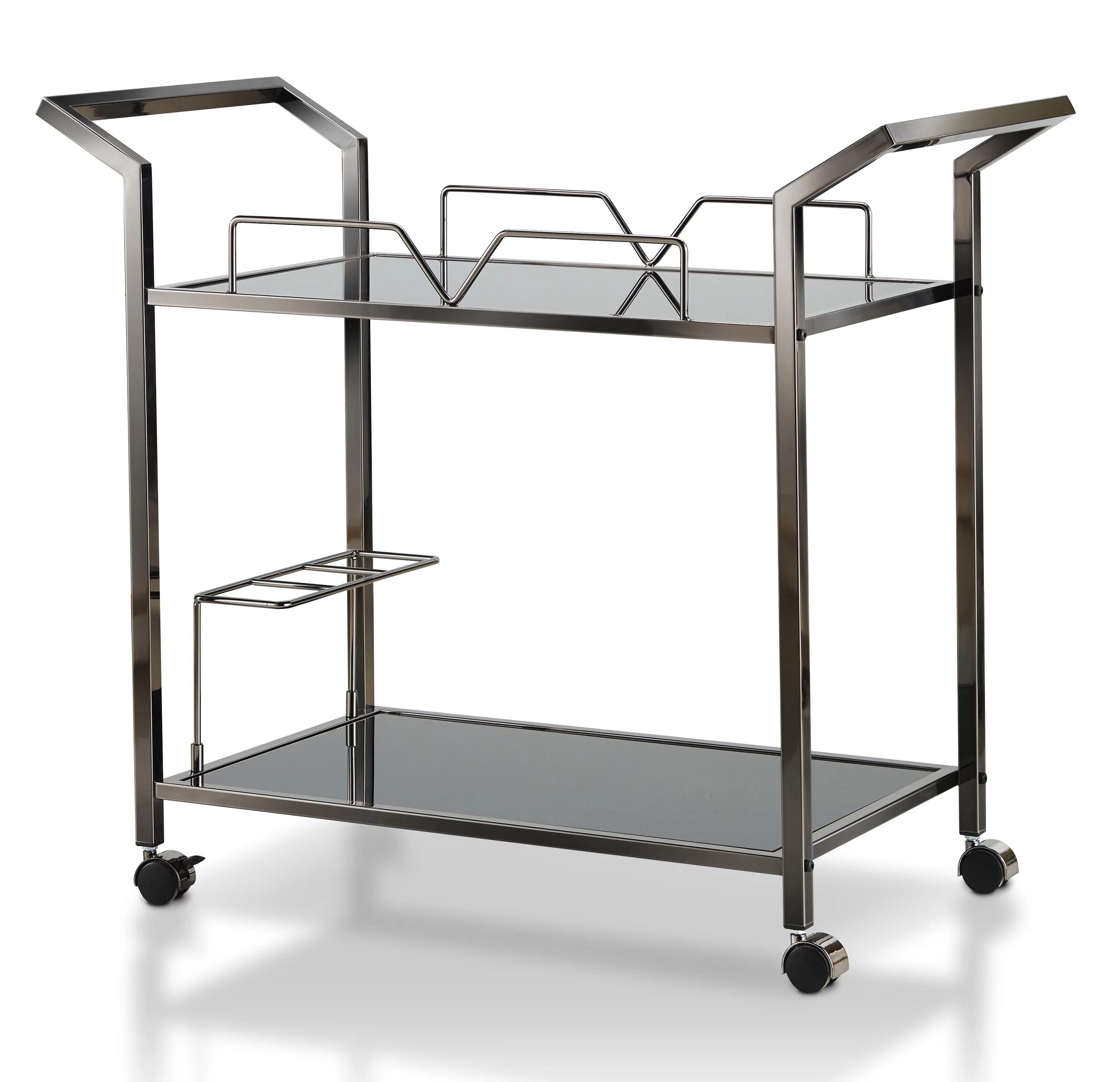 modern kitchen cart booth tables furniture of america lister walmart com