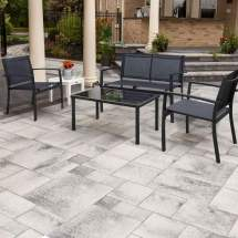 walnew 4 pieces patio furniture