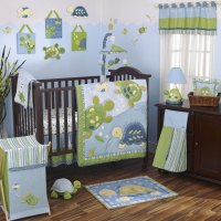 Cocalo 8 Piece Baby Crib Bedding Set - Sea Green and Aqua ...