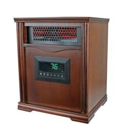 lifesmart lifepro dark oak 1500 watt infrared electric portable space heater walmart com [ 1600 x 1600 Pixel ]