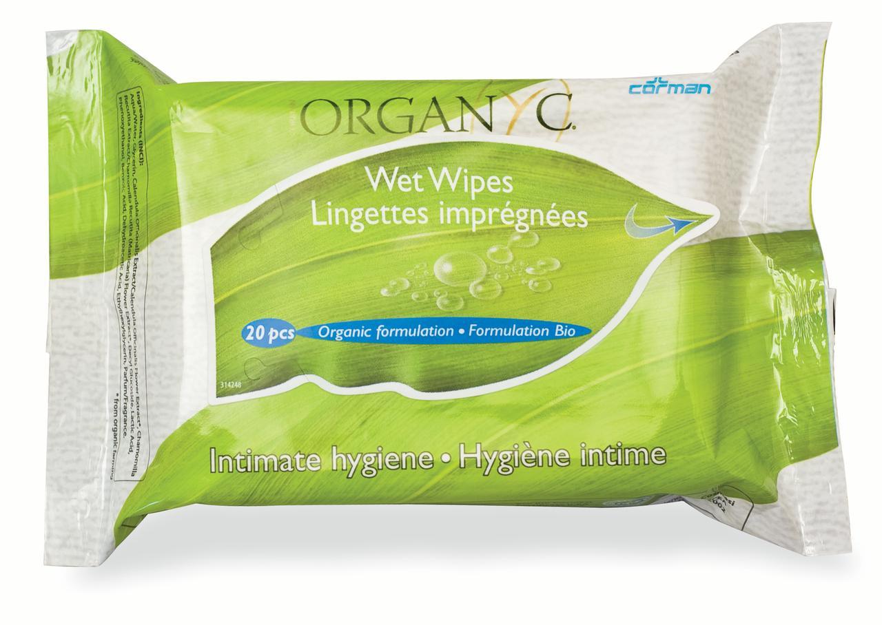 Organyc 100% Organic Feminine Wipes 20 Ct - Walmart.com